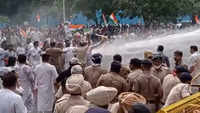 Chandigarh: Police uses water cannons to disperse protesters
