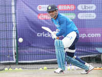 World Cup: Indian players practice ahead of Windies match
