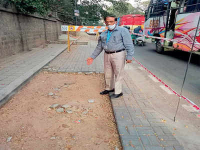 BBMP chief gets footpath fixed within 12 hrs of BM report