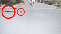 On cam: Speeding car rams 59-year-old head-on at JDA circle, Jaipur