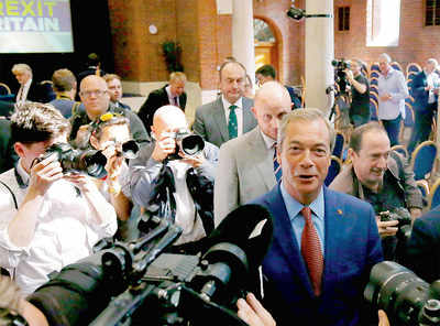 Farage resigns as Ukip chief