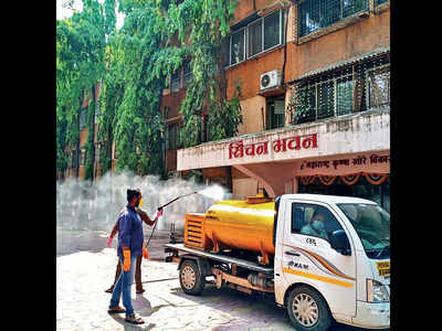 Rain washes away efforts of disinfecting city
