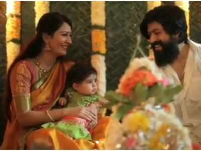 Watch: Yash-Radhika Pandit name their daughter 'Arya'