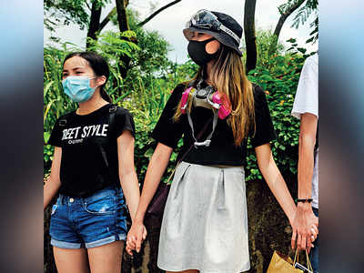 School students join Hong Kong protests