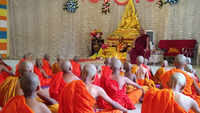 Buddha Purnima: Monks offer prayers to celebrate birth anniversary of Lord Buddha in Mumbai's Bhandup