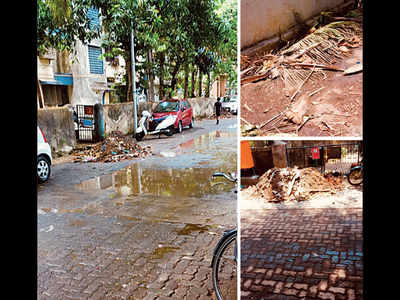 Drains are 'cleaned', but the debris is left behind