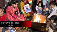 Chandigarh: Cricket fans perform 'havan' for the victory of Team India