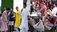 Shah Rukh Khan, Gauri Khan, Ranbir Kapoor, Karan Johar among others dance their heart out at Akash Ambani's baraat