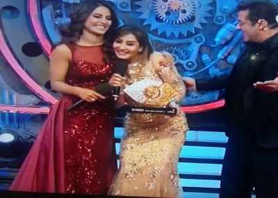Bigg Boss 11 Winner Shilpa Shinde walks away with the coveted Bigg Boss trophy and prize money of Rs 44 lakh