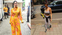 Kareena Kapoor clicked in blooming yellow floral jumpsuit, Malaika Arora spotted at Diva Yoga studio