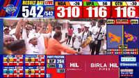 BJP workers celebrate landslide NDA win, hail PM Modi's leadership