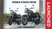 Honda H'ness CB350 walk-around | 5 key takeaways