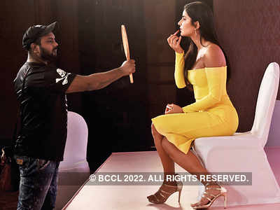 Katrina Kaif adjusts her makeup before launching her brand