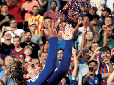 Barcelona's Antoine Griezmann proves that he indeed is gold