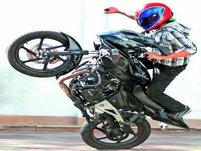 Brakes on wheelies: Police seize 65 two-wheelers