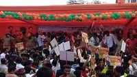 Jaipur: BJP workers celebrate Satish Puniya's birthday