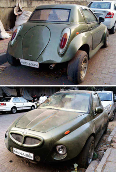 RTO officers get to the bottom of odd-looking car's mystery