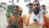 BJYM workers distribute 'tulsi plants' on pious day of Ram Temple bhoomi pujan in UP's Aligarh