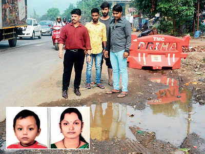 Woman, toddler die after bike hits pothole, says family