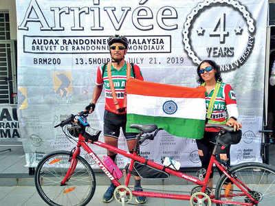 Tandem bike duo aims int'l title