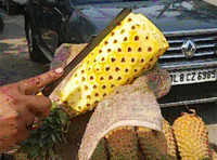 Watch: How to cut a pineapple in 4 easy steps