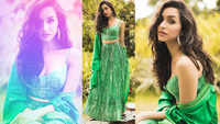Shraddha Kapoor dazzles in this green summery 'lehenga'
