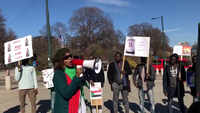 Sudanese protestors continue pro-democracy demonstration in Oslo after military coup