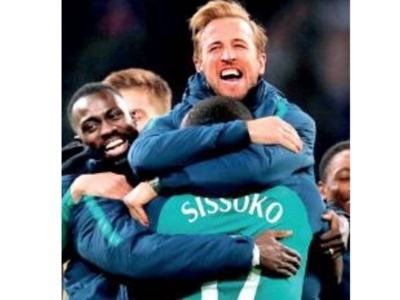 Injured striker Harry Kane inspires his teammates to win the semi-finals