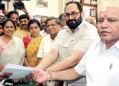 Bengaluru: Rajeev Chandrasekhar files Rajya Sabha nomination, joins BJP