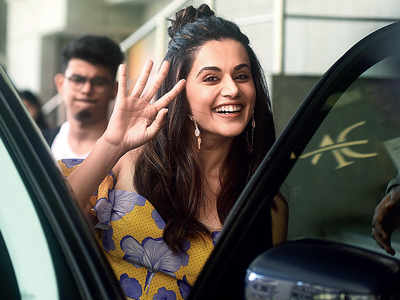 Spotted: Taapsee Pannu in Andheri