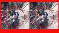 On cam: 2 bike-borne men snatch chain from woman in Delhi