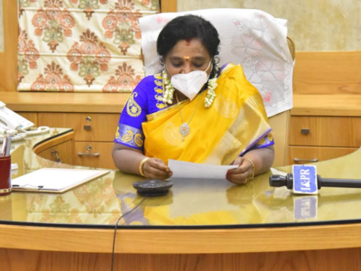 Telangana Governor interacts with experts on combating COVID-19