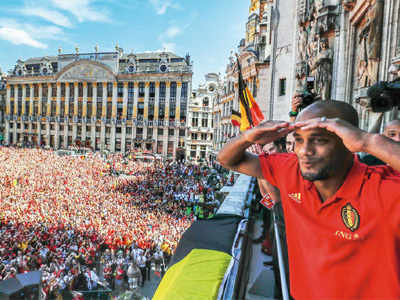 FIFA World Cup 2018: Belgium team receive hero's welcome in Brussels after achieving best-ever result