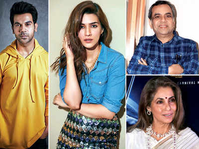 Rajkummar Rao and Kriti Sanon adopt Dimple Kapadia and Paresh Rawal as parents in their upcoming comedy