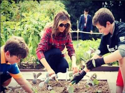 Melania Trump hosts her maiden event in Michelle Obama-founded vegetable garden