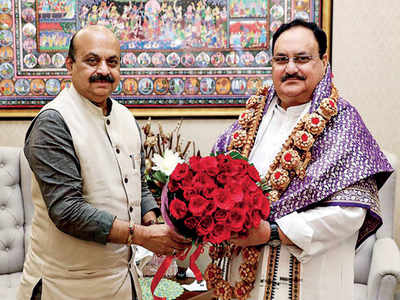 Chief Minister Basavaraj Bommai  meets BJP national president JP Nadda to finalise Cabinet