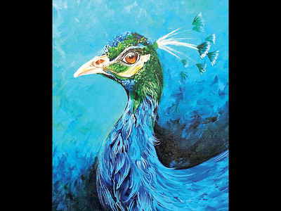 PLAN AHEAD: Paint a peacock