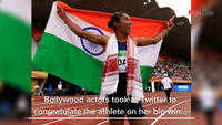 Wishes pour in for Hima Das from Bollywood after her 5th gold medal win