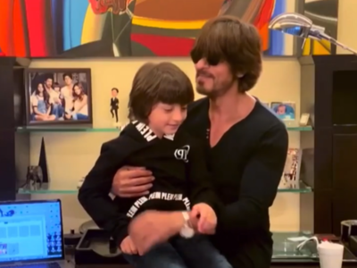 Shah Rukh Khan sings 'Lockdown special' song for COVID-19; AbRam says 'It is enough'