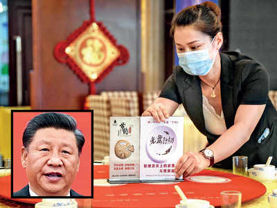 Xi asks Chinese diners to order less