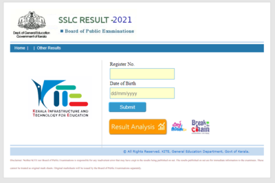 Kerala SSLC Result 2021 Declared Highlights: 99.47% passed, result link available now