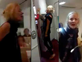 On cam: Unruly foreign passenger abuses AI flight attendants after being denied another glass of wine