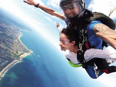 Nushrat Bharucha on her sky-diving experience in Australia: I felt like I was flying