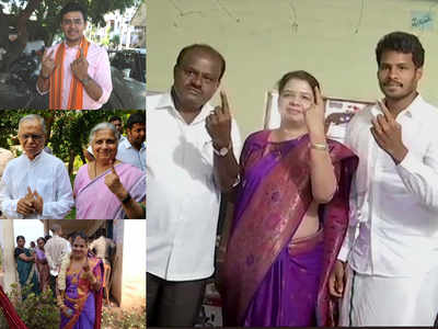Voting underway in 14 Karnataka seats, 19.9 per cent polling percentage recorded till 12 pm