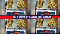 932 grams of gold worth around Rs 53 lakh seized at Kannur International Airport, 2 held