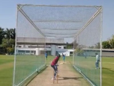 Shardul and Mumbai player hit nets amid lockdown