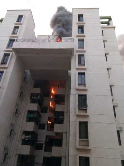 Fire breaks out at Wagholi's housing society in Pune