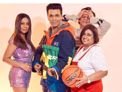 Photos: Karan Johar and Gauri Khan recreate Kuch Kuch Hota Hai look in Bollywood's theme party with Shah Rukh Khan