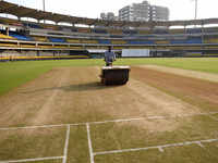 How a cricket pitch is prepared