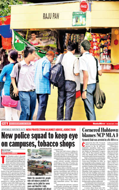 India's 1st tobacco-linked arrest under JJ Act in city